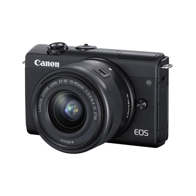 دوربین دیجیتال بدون آینه کانن M200 با لنز 15-45 میلی متر مشکی
